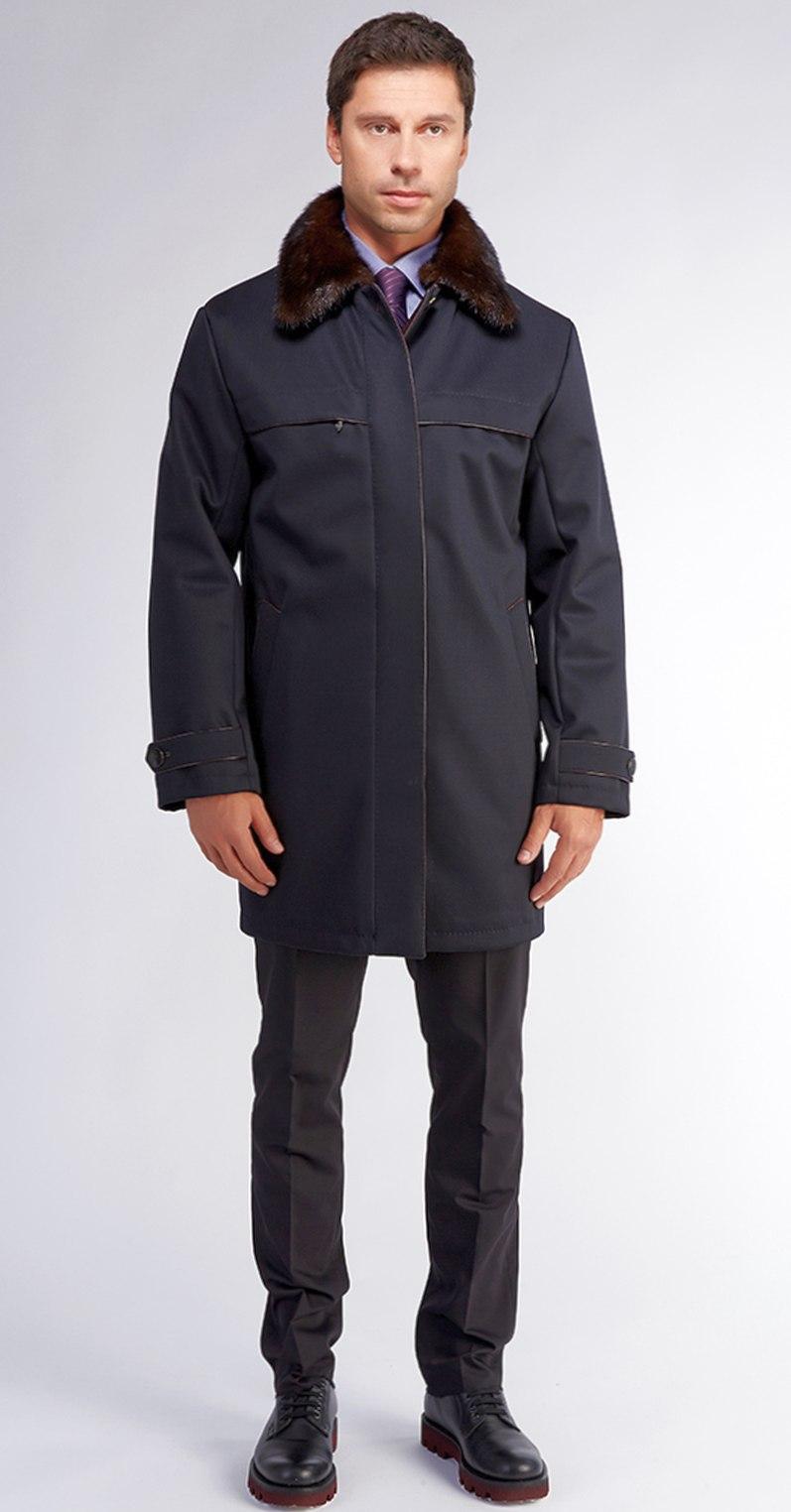 мужская черная куртка из 100% шерсти с мембраной
